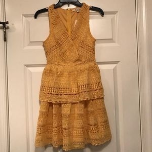 Yellow Lace Summer Dress